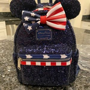 Stars and Stripes Disney Loungefly backpack